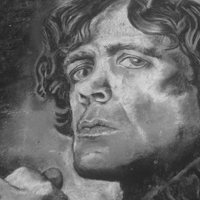"Expressions in Chalk 2015 - ""Tyrion - GOT"" - Chalk drawing by Samantha Vincent www.iheartart.ca"