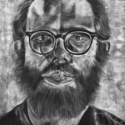 "Expressions in Chalk 2016 - ""Chuck Close Portrait"" - Chalk drawing by Samantha Vincent www.iheartart.ca"